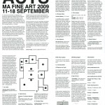 MA Fine Art 2009 Website Catalogue: www.creativeacts.info